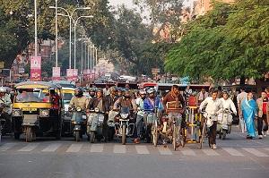 Jaipur India traffic